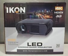 IKON IK900 4K 3D LED ANDROID HDMI HDTV THEATER SMART PROJECTOR