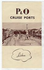 P&O CRUISE PORTS Information leaflet for Lisbon (C3448).