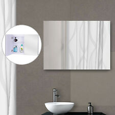 HOMCOM LED Wall Mirror Illuminated Cabinet Doble Door Bathroom Frameless