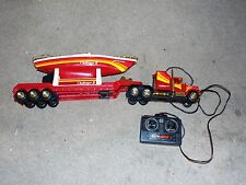 NEW BRIGHT CHALLENGER II TRACTOR TRAILER TRUCK & BATTERY OPERATED YACHT