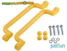SWING Seat SET ACCESSORIES PLASTIC HANDGRIPS YELLOW  PAIR  12X3 INCH JUST FUN