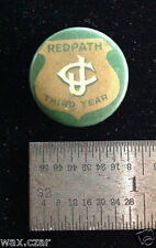 Redpath Junior Club Third Year New York Vintage Green Celluloid Pinback Pin 1""