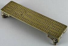 05631: Georgian Brass Cribbage Board dated 1819