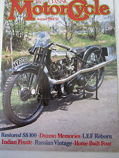 The Classic Motorcycle Magazine August 1984 Restored SS 100 Duzmo Memories India