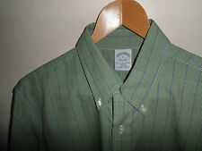 "STUNNING* BROOKS BROTHERS Mens Plaid Check Shirt Size Large L 16.5"" - FAST POST"
