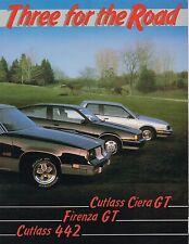 1985 Oldsmobile MUSCLE CARs Brochure / Poster : Cutlass 442,Ciera GT,Firenza GT
