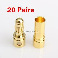40 Sets 3.5mm Gold-plated Bullet Banana Plug Connector for RC Battery ESC Motor