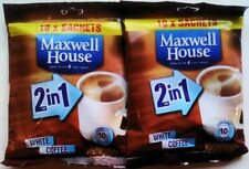Maxwell House 2 in 1 White Coffee 2 x 10 sachets