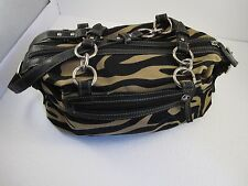 AMERICAN LIVING HAND STRAPS  HANDBAG LARGE  BROWN AND BLACK # 25