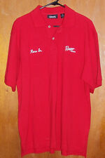 Men's Size Medium Ranger Boats Bass Cat Fishing Shirt M Short Sleeve Red Polo
