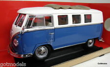 ROAD SIGNATURE 1/18 SCALE - 92327BU 1962 VOLKSWAGEN CAMPER BUS BLUE DIECAST CAR
