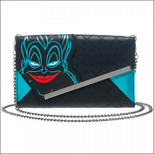 Disney Villains Ursula The Little Mermaid Envelope Chain Clutch Wallet Purse NEW