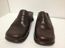 Dockers Women  Brown Leather Mules Clogs Size 8 1/2 M
