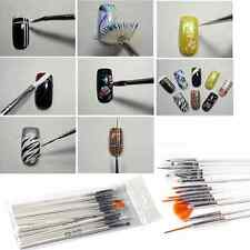 15pcs UV Gel Nail Art Design Painting Dotting Detailing Pen Brushes Tool Kit Set
