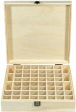 Wooden Essential Oil Organizer hold 58 bottles Large Natural Pine Wood Case Box