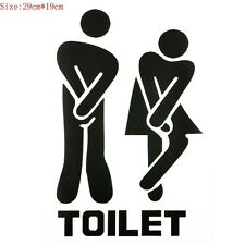 Sex Toilet Sign Coffee Bar Wall Sticker Vinyl Art Removable Bathroom Decal Decor