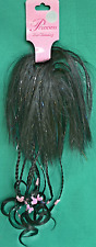 DISNEY PRINCESS WIG DISNEY COSTUME BRAIDED HAIRPIECE BLACK WIG PINK MICKEYS NEW