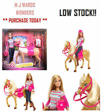 Barbie - Sister Doll & Tawny Horse - BJF78 - Playset ** GREAT GIFT **
