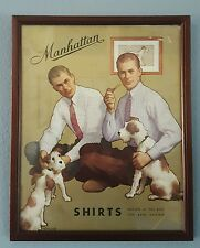 Manhattan Shirts Clothing Cardboard Easel Back Store Display Sign Gotlieb