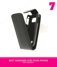 NERO Soft Flip Case Cover per Nokia C2-01 C2 01) UK STOCK