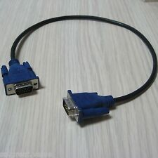 50cm VGA 15pin male to male extension computer laptop PC moniter project cable