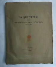 LA QUADRERIA DELLA SOCIETÀ DEGLI ARTISTI E PATRIOTTICA, PIZZI E PIZIO, 1925