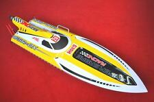 Bare Hull DT G30H Saber 30CC Engine Gas RC Racing Boat Fiber Glass KIT Yellow