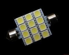 1X Lampada luci targa/interno siluro a led 42 mm T11 C5W 12 SMD 6000K reali