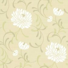 Crown Linen Floral Wallpaper Lemon