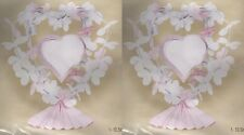 2-SET WEDDING FLOWERS CENTERPIECES Table Heart Pink Party Decor Anniversary NEW