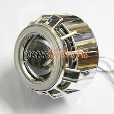 2X Dual Angel Eye Halo Rings Monster Shrouds Bezel for 2.5'' Headlight Projector