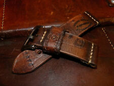 Hand made 26mm Swiss Army Leather Ammo watch strap. 1961