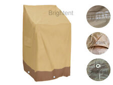 Garden Patio Waterproof Furniture Cover Stacking Chair 6 Chairs Storage GS32P