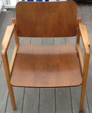 Early Jens Risom Bentwood Walnut Arm Chair