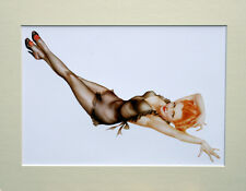 "Alberto Vargas  Mounted Print  AV7 - Pin-Up Art - Stockings   SIZE  14"" X 11"""