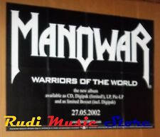 POSTER metal PROMO MANOWAR WARRIORS WORLD 59,5 X 84 cm NOcd dvd vhs lp live mc