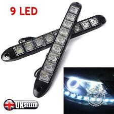 2pcs X White 12V 9 LED Daytime Running Light DRL Car Fog Day Driving Lamp Lights