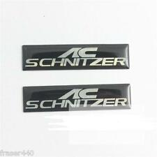 AC SCHNITZER 2 PIECES  BADGE/EMBLEM/DECAL/STICKER FREE UK P&P