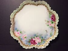 "Antique 1904 Rosenthal Co. Monbijou Bavaria 7"" Plate Rose Pattern"