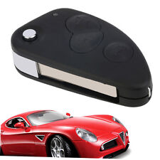 3 Button Flip Remote Key Fob Shell Case Fits For Alfa Romeo 147 156 GT Y BY