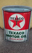 Texaco Motor Oil metal sign 8 by 5.5 inches raised letters Vintage Looking