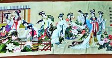 "Large-size handmade cross stitch ""Dream of the Red Chamber (or 'Hong Lou Meng')"""