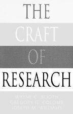 The Craft of Research (Chicago Guides to Writing, Editing, and Publishing), Will