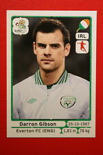 Panini EURO 2012 N. 352 IRELAND GIBSON NEW With BLACK BACK TOPMINT!!