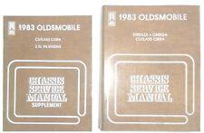 1983 OLDSMOBILE SERVICE REPAIR MANUAL SET CUTLASS MORE