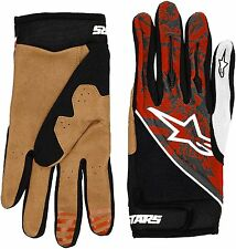 AlpineStars Gravity Protection MTB Bicycle Cycling Gloves White Red Size XL