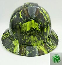 Hard Hat FULL BRIM custom hydro dipped , OSHA approved  WAY OF THE FIST !! NEW !