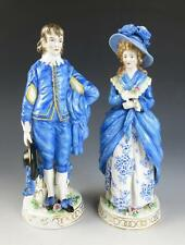 QUALITY Pair Antique French German Chelsea GAINSBOROUGH BLUE BOY LADY Figurine