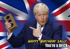Partido conservador Boris Johnson Tory spoof Personalizado Feliz Cumpleaños Tarjeta De Arte