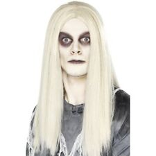 Men's Grey Ghost Town Indian Wig Halloween Fancy Dress Walking Dead Stag Fun